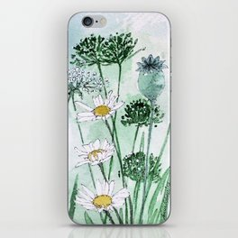Thistles and Daisies iPhone Skin