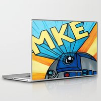 milwaukee Laptop & iPad Skins featuring Milwaukee: R2D2 MKE by Amanda Iglinski
