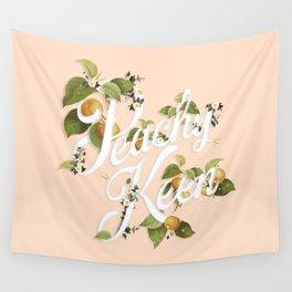 Peachy Keen : Peach Wall Tapestry