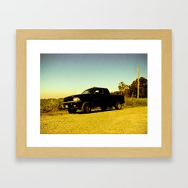 Orange Ram Framed Art Print