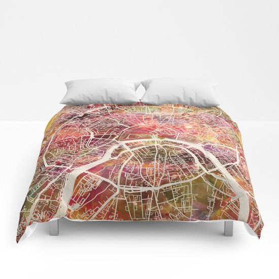 Moscow Map Comforters