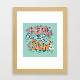 Here Comes The Sun 001 Framed Art Print