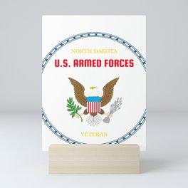 North Dakota U.S. Armed Forces Veteran Mini Art Print
