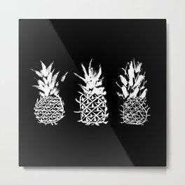 Bold pineapples Metal Print
