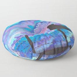 Galaxy Owl Floor Pillow