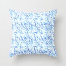 Pale Blue Spots Throw Pillow