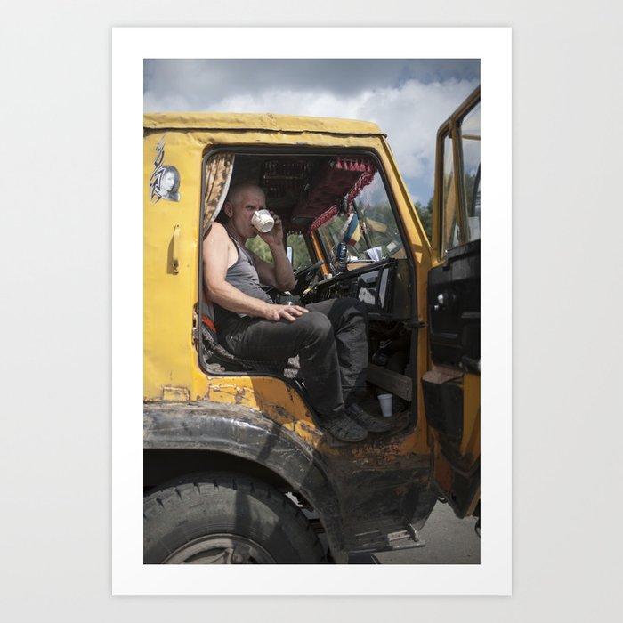 Ural Trucker Art Print