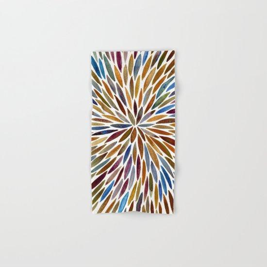 Watercolor Burst – Retro Palette Hand & Bath Towel