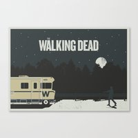 walking dead Canvas Prints featuring Walking Dead by Brandon Riesgo
