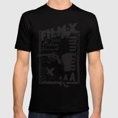 Film X Black Mens Fitted Tee X-LARGE
