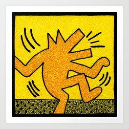 Keith Haring Dancing Dog Art Print