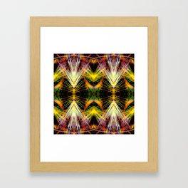 Yellow Bright Rays,Fractal Art Framed Art Print