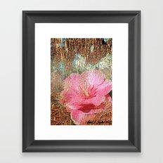 late flowering Framed Art Print