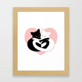 Balanced Feline Love Framed Art Print