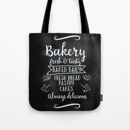 Bakery Chalkboard poster Tote Bag