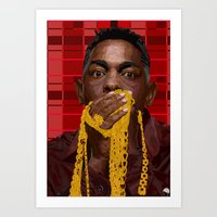 kendrick lamar Art Prints featuring KENDRICK LAMAR by SPIFF ART