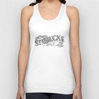 starbucks Tank Tops featuring Vintage Starbucks Logo by Kayla Eber