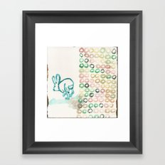 The Jumping Rabbit Migraine Framed Art Print