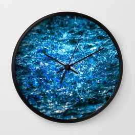 Water Color - Blue Wall Clock