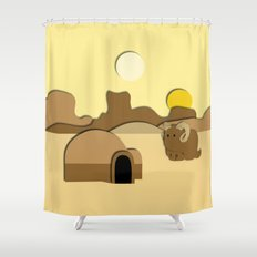 Tatooine Shower Curtain