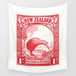 1936 NEW ZEALAND Kiwi Postage Stamp Wall Tapestry