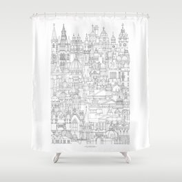 Glasgow, a cone in a haystack Shower Curtain