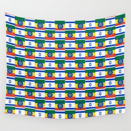 Mix of flag : israel and ethiopia Wall Tapestry