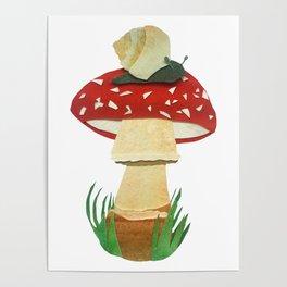 Mushroom & Snail Duo Poster