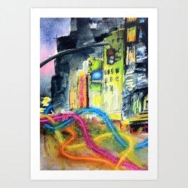 We Move Like Beams of Light Art Print