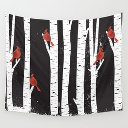 Northern Cardinal Birds Wall Tapestry