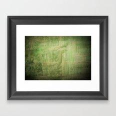 Old wall Framed Art Print