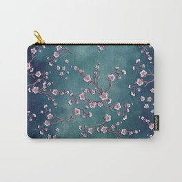 SAKURA LOVE  GRUNGE TEAL Carry-All Pouch