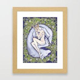 The White Doe Framed Art Print