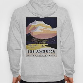 See America Montana travel ad Hoody