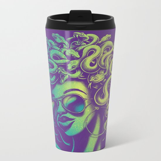 Funky Medusa Metal Travel Mug