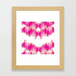 Bright urban texture pattern Framed Art Print