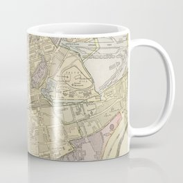 Vintage Map of Edinburgh Scotland (1901) Coffee Mug