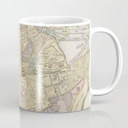 Vintage Map of Edinburgh Scotland (1901) Coffee Mug