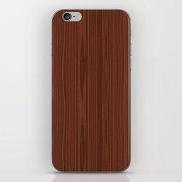 Walnut Wood Texture iPhone Skin