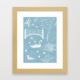 Swan Framed Art Print
