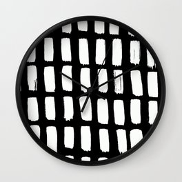 Brushstroke Abstract Wall Clock