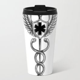 Caduceus Pilot Wings EMT Star Tattoo Travel Mug