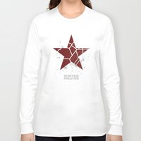 winter soldier Long Sleeve T-shirts featuring Codename Winter Soldier by Bonnie Detwiller