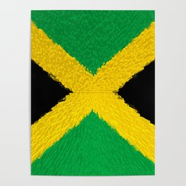 Extruded flag of Jamaica Poster