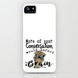 Infectious Conversation iPhone Case