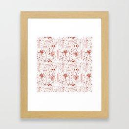 Doodle Christmas pattern Framed Art Print