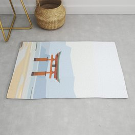 Floating torii, Itsukushina Shrine, Japan Rug