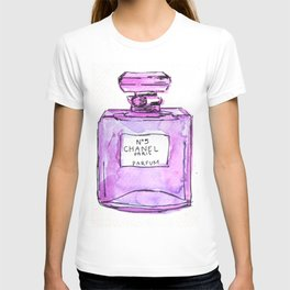 perfume purple T-shirt