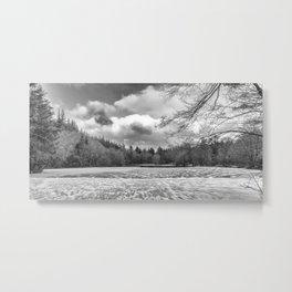 Frozen Lake Panorama Metal Print