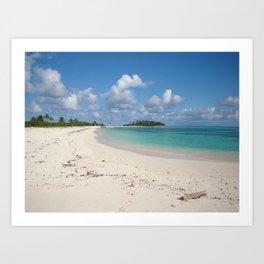 Los Roques beautiful island Art Print
